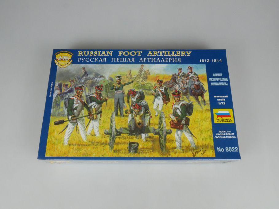 ZVEZDA 1/72 8022 Russian Foot Artillery 1812-1814 Figuren kit Box 113307
