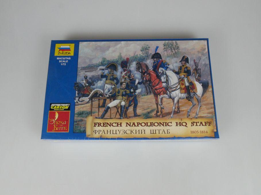 ZVEZDA 1/72 8080 French Napoleonic HQ Staff 1805-1814 Figuren kit Box 113310