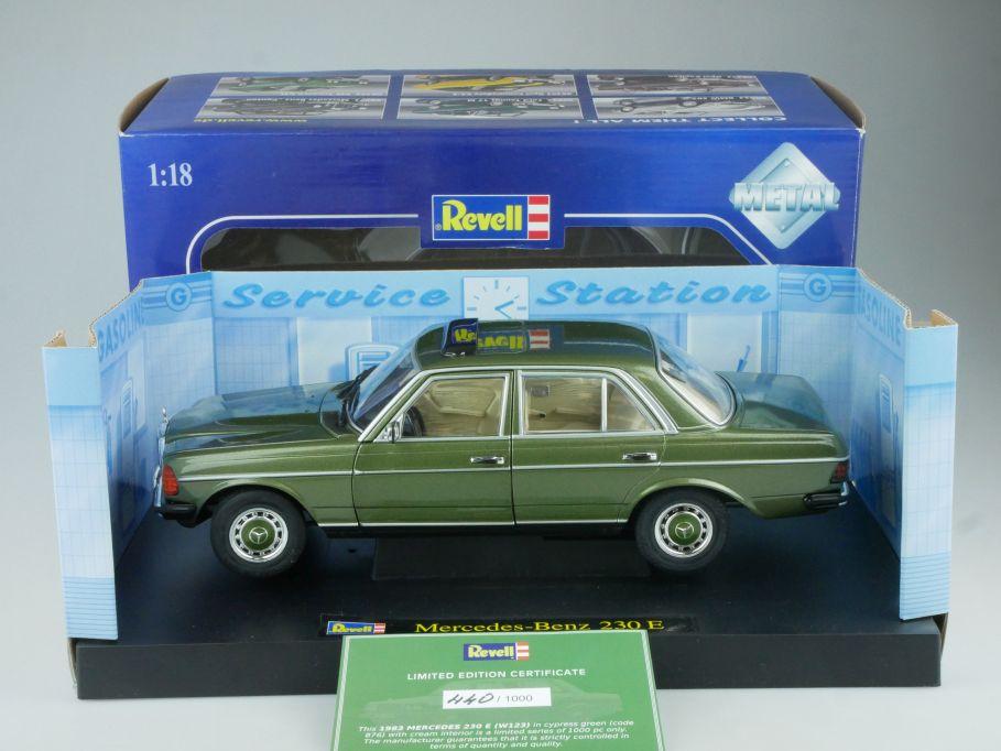 Limited Revell 1/18 Mercedes Benz 230E W123 greenmetallic 08407 9093 Box 514306