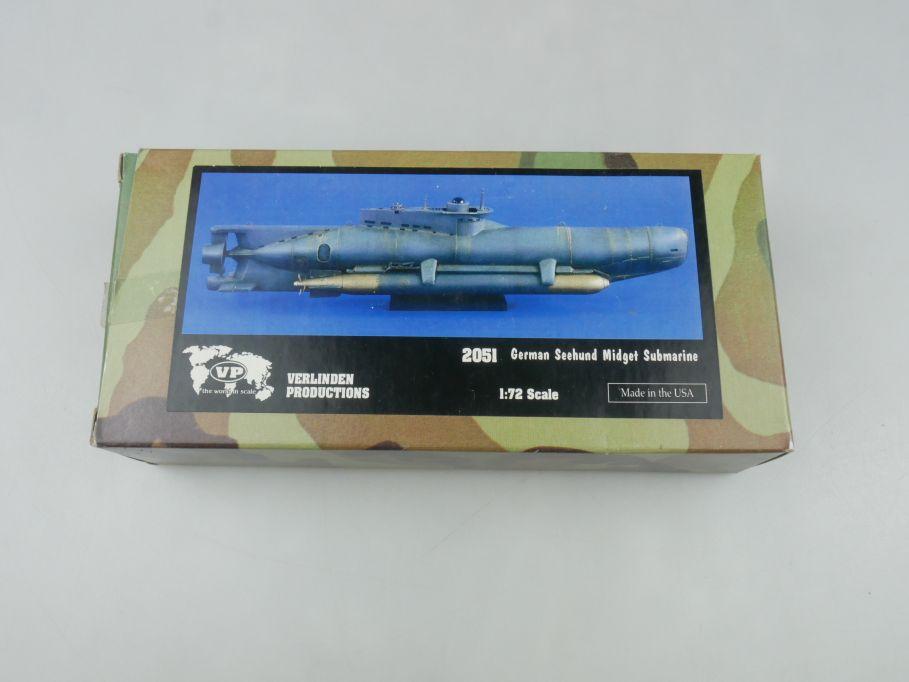 Verlinden Productions 1/72 2051 German Seehund Midget Submarine Kit + Box 114597