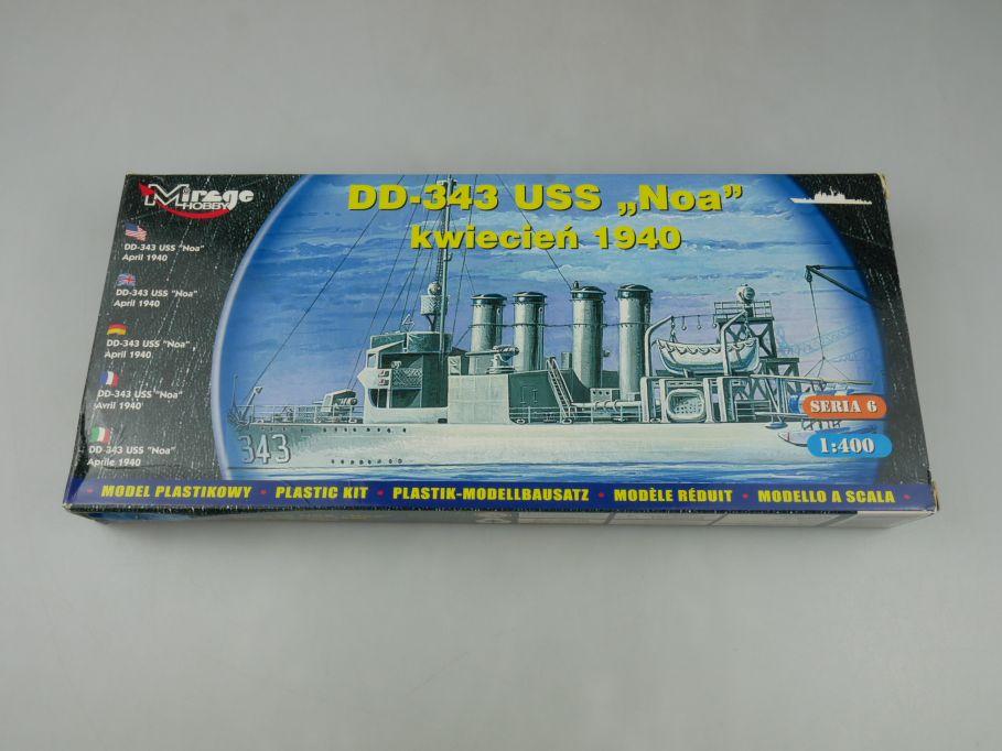Mirage Hobby 1/400 DD-343 USS Noa kwiecien 1940 ship Kit Box 114602