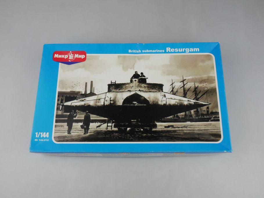 Micro Mir 1/144 Britains oldest submarine Resurgam British U-Boot Kit Box 114612