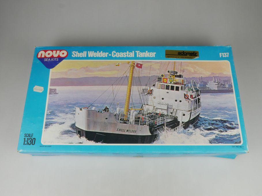 USSR Novo Sea kits 1/130 Shell Welder Coastal Tanker ex FROG kit F137 Box 115462