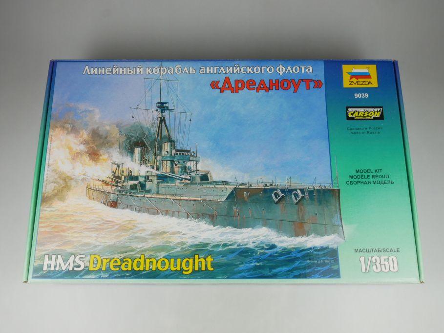 Zvezda 1/350 HMS Dreadnought british battleship 9039 Bausatz Kit Box 114881