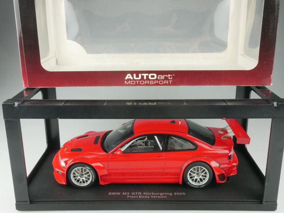 80530 Autoart 1/18 BMW M3 E46 GTR Coupe Nürburgring 2005 plain red Box 515333