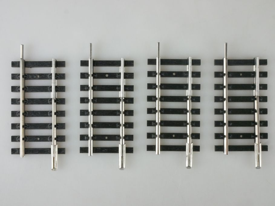 Fleischmann H0 4x Übergangsgleis Hohlprofil-Vollprofil 00/4 PFR 114369
