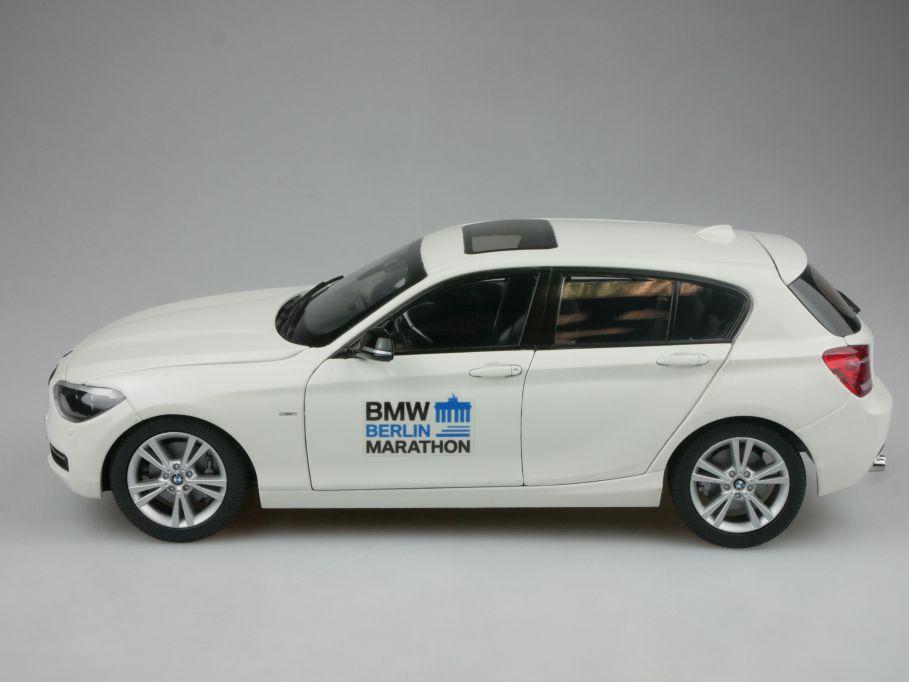 Paragon 1/18 BMW 125i F20 2012 weiß Dealer Ed. mit Decals Berlin Marathon 114361