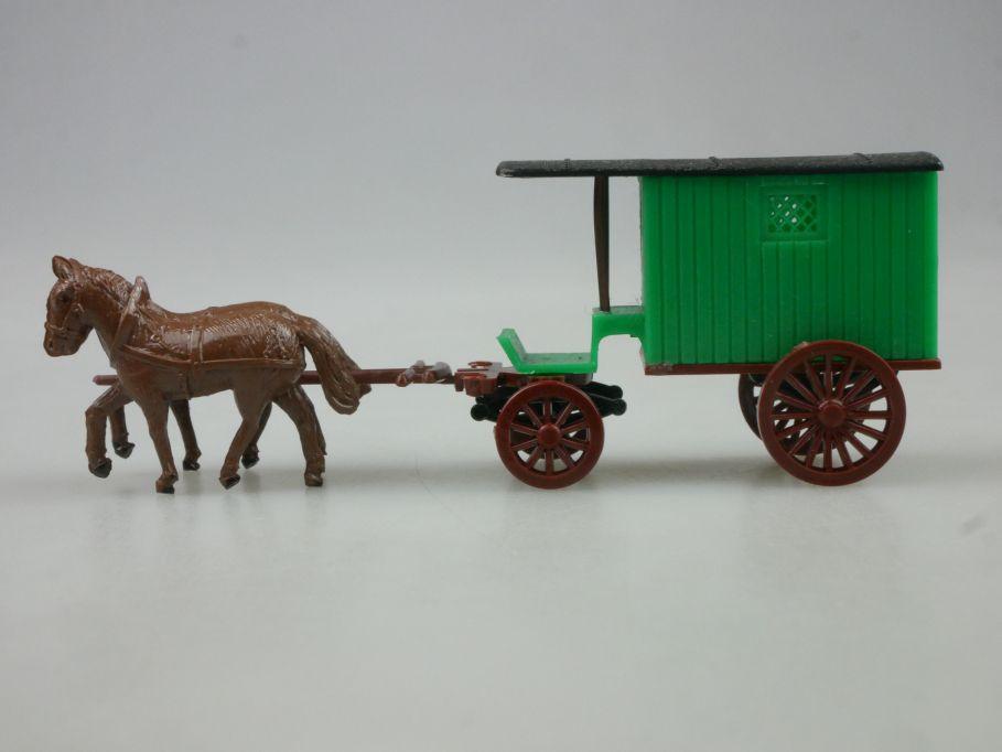 Haufe 1/87 H0 Pferdegespann Kutsche Pferde Wagen Espewe DDR 114507