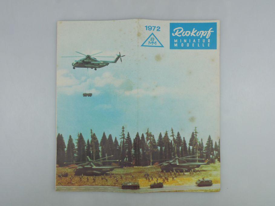 Roskopf RMM 1/100 Prospekt Katalog 1972 Selten 115090