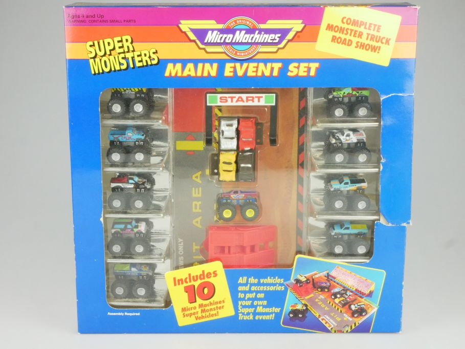 Galoob 7416 Micro Machines Main Event Set Monster Truck Road Show + Box 114525