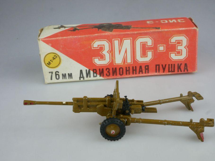 CCCP USSR 1/43 76MM Anti Tank Gun canon Geschütz DDR Novoexport Box 114873