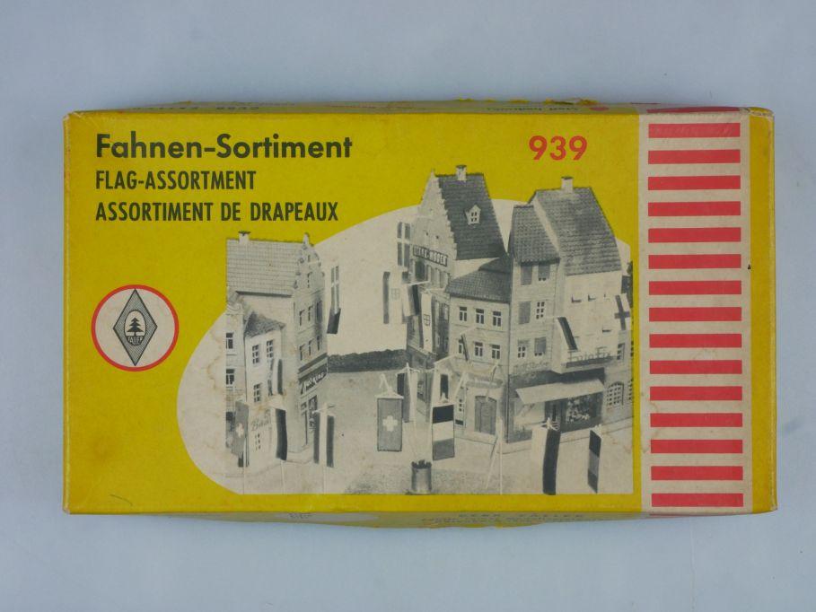 Faller H0 939 Fahnen Sortiment Stoff bedruckt Flag + OVP Box 115052