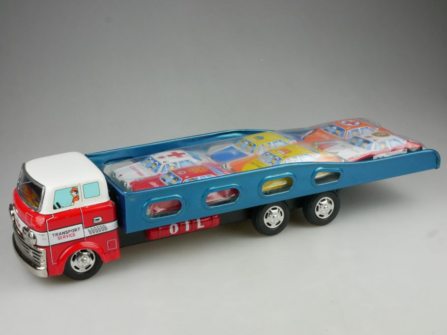Blechspielzeug Japan Friction Auto Transport Service litho tin toy 115023