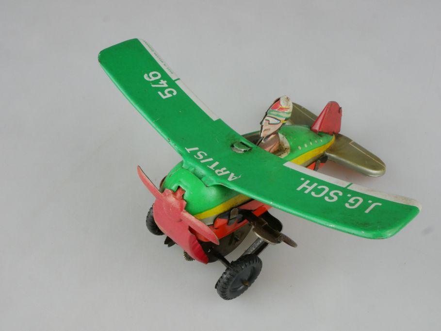 Blechspielzeug 60er Überschlagflugzeug Artist J G SCH Schopper 546 tintoy 115195