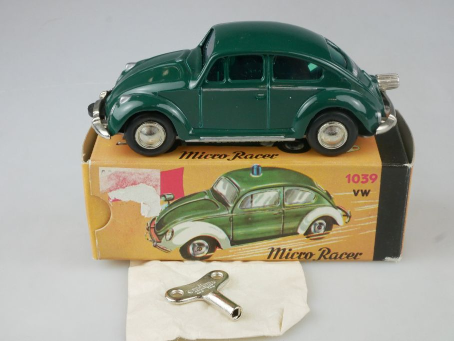 Schuco Nutz 1046 1039 Micro Racer Uhrwerk VW Käfer grün Volkswagen + Box 115198