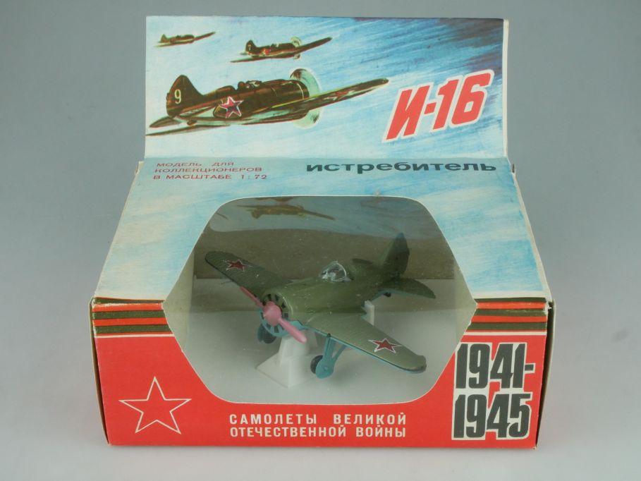 CCCP USSR 1/72 RATA POLIKARPOV I-16 TYPE 24 WWII Fighter Plane soviet Box 115277