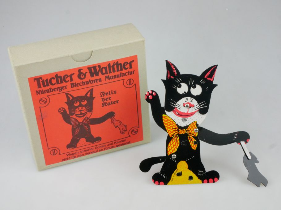 Felix der Kater Blechspielzeug Tucher & Walther Nürnberg cat tintoy Box 115306