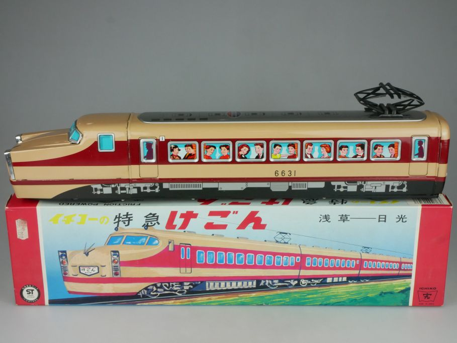 ICHIKO Japan Blech 48cm Passanger Train 6631 Kegon Zug Friktion Box 115318