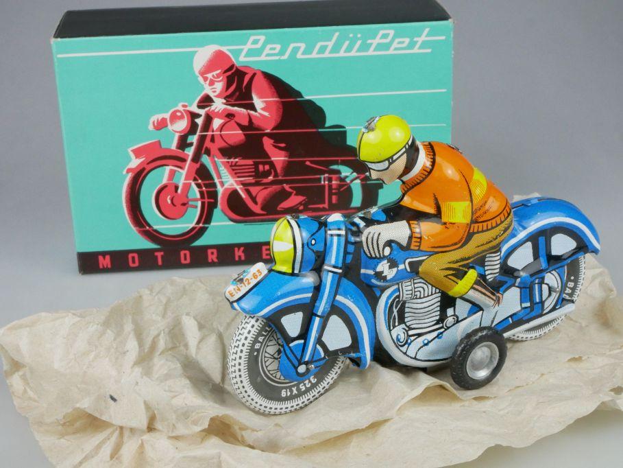 Lemezaru Gyar Blech Spielzeug Motorrad Motorbike Tin Toy Ungarn + Box 115327