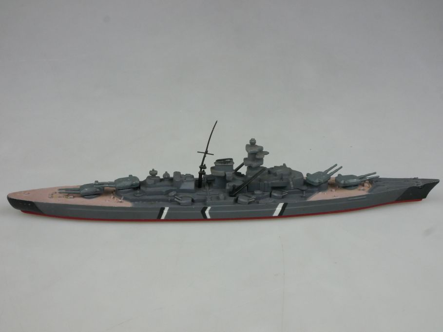 Vintage 20,3cm Bismarck Battleship Tri-ang Minic Ships Hongkong M742 115334