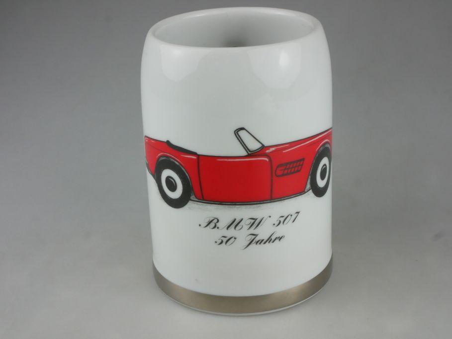 Bavaria König Porzellan Becher red BMW 507 50 Jahre porcelain mug cup 115338