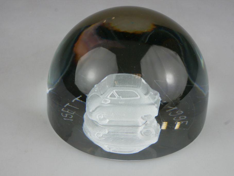 3D Kristallglas Glas Motiv BMW Isetta 1955 - 1995 40 Jahre 115339