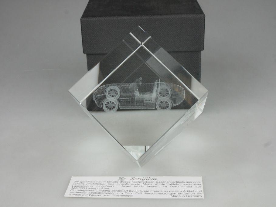 BMW Z8 Roadster 3D Laser Briefbeschwerer Glasblock mit Innengravur + Box 115421