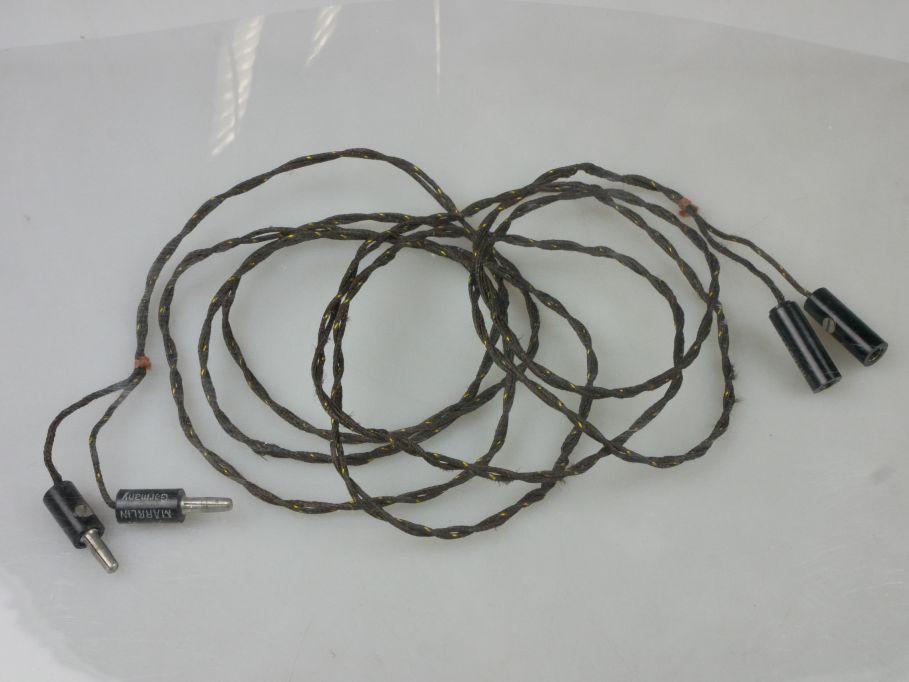Märklin Spur 0 / 1 Kabel ca. 2m 13532/22 mit Aufdruck, Stoff umspannt PFR 115483