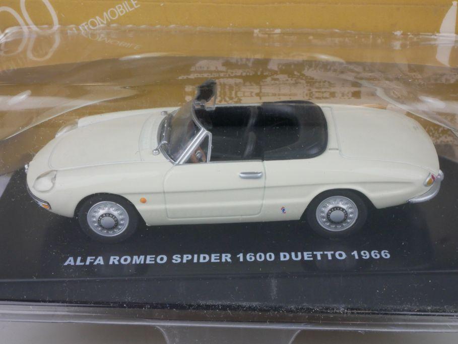 1/43 Alfa Romeo Spider 1600 Duetto 1966 diecast Modell DeAgostini + Box 115625