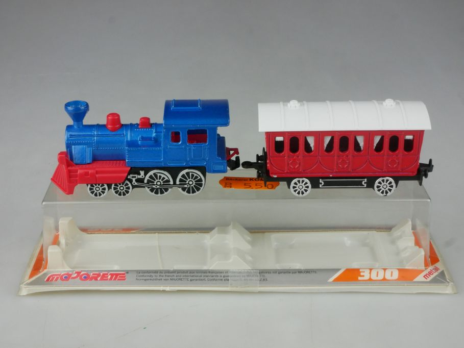 Majorette 300 metal 278 1/87 315 Western Lok + Wagon vintage + Box 115634