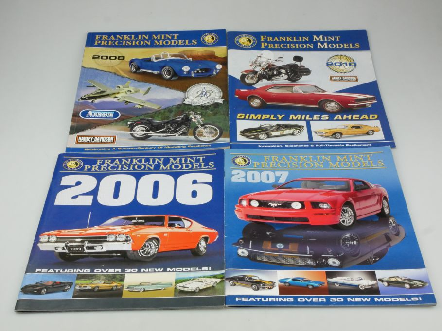 4x Franklin Mint Katalog Programm 2006 2007 2008 2010 catalogue 115690