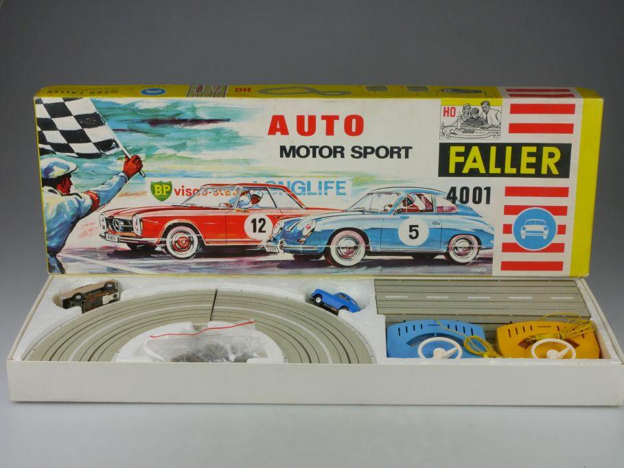 Faller AMS H0 Set 4001 - Rennbahn Porsche 356 4835 Mercedes 220 4801 Box 115713