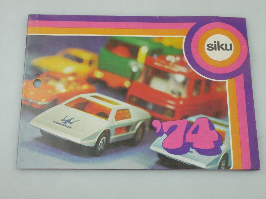 Siku ´74 1974 Katalog 30 S. catalog Sammler 115958