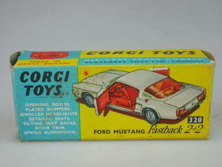 Corgi Toys 320 LEERE Original empty Box Ford Mustang Fastback 2+2 116008