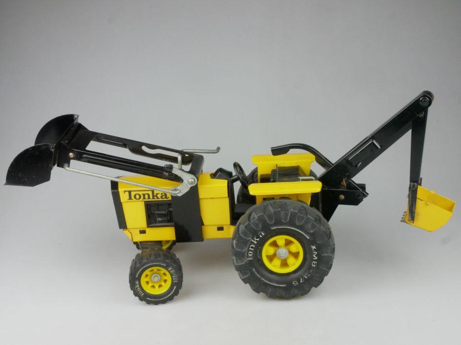 vintage 70´s Tonka Baggerlader Backhoe XR-101 XMB-975 Metall 116175