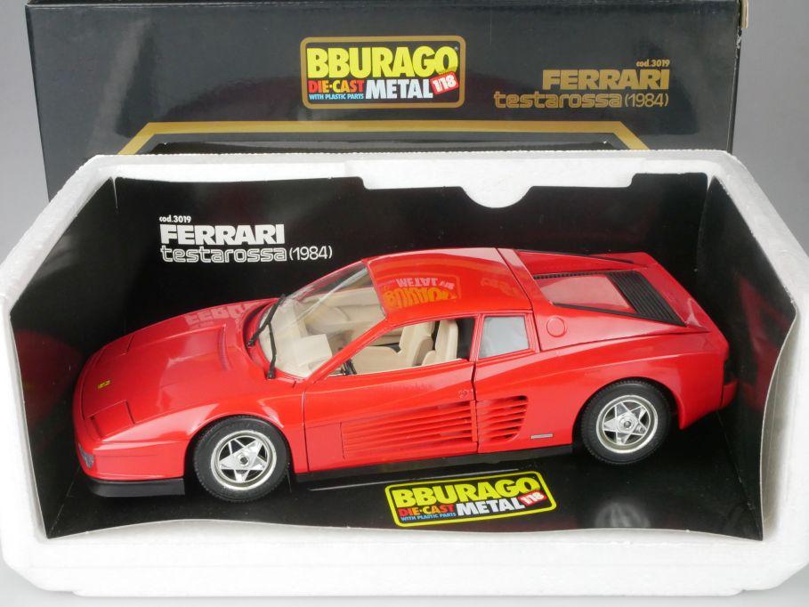Bburago 1/18 FERRARI Testarossa 1984 diecast metal cod. 3019 Burago + Box 116266