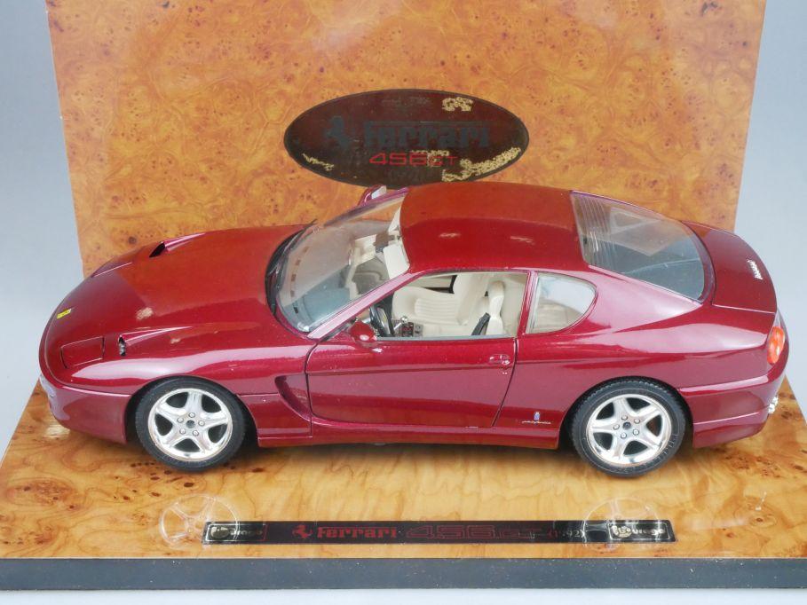 Bburago 1/18 Ferrari 456 GT ref. 3746 auf Holzplatte + Box 116273
