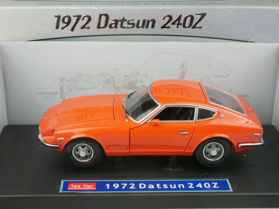 Sun Star 1/18 1972 Datsun 240Z Sunstar 3501 diecast model sunstar + Box 116275