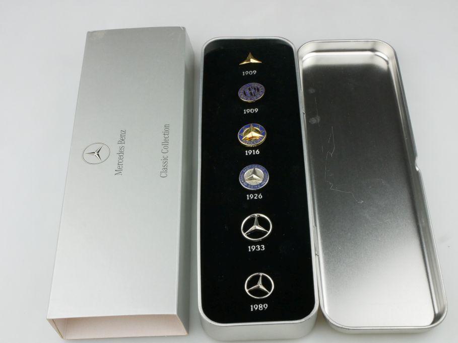 Mercedes Benz Classic Pin Set 6 Stück B66043286 + Box 116460