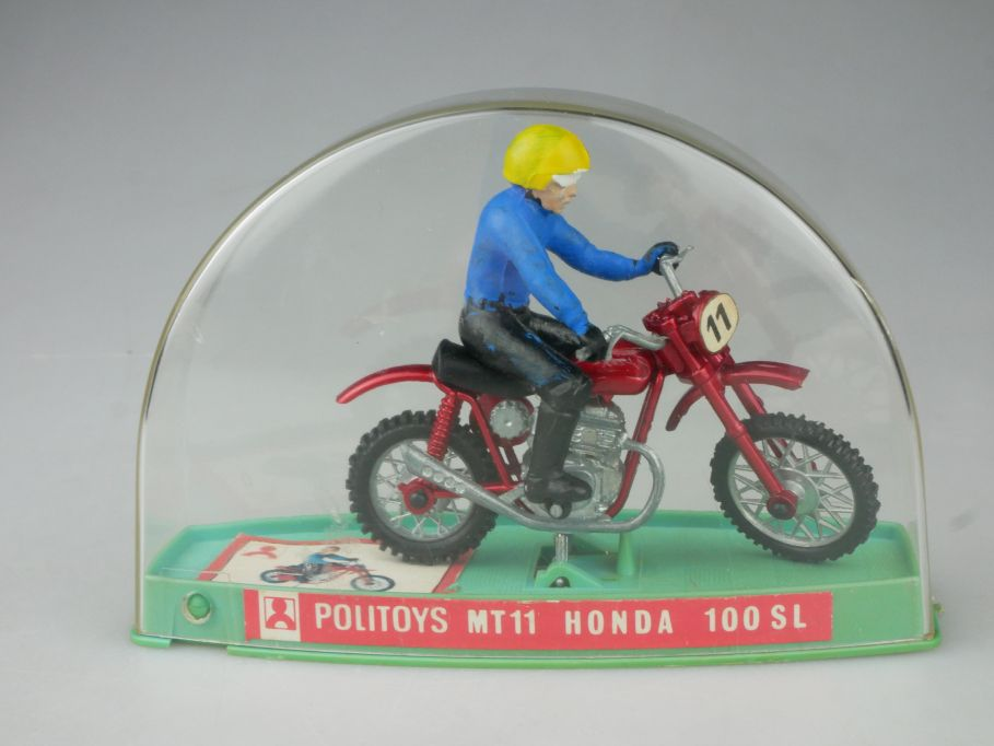 Politoys 1/18 MT11 Honda 100SL Motorrad motorcycle diecast vitrine 116511