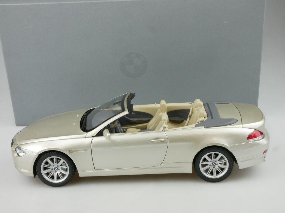 Kyosho 1/18 BMW 6er Cabrio diecast dealer model 80430153437 + Box 116573