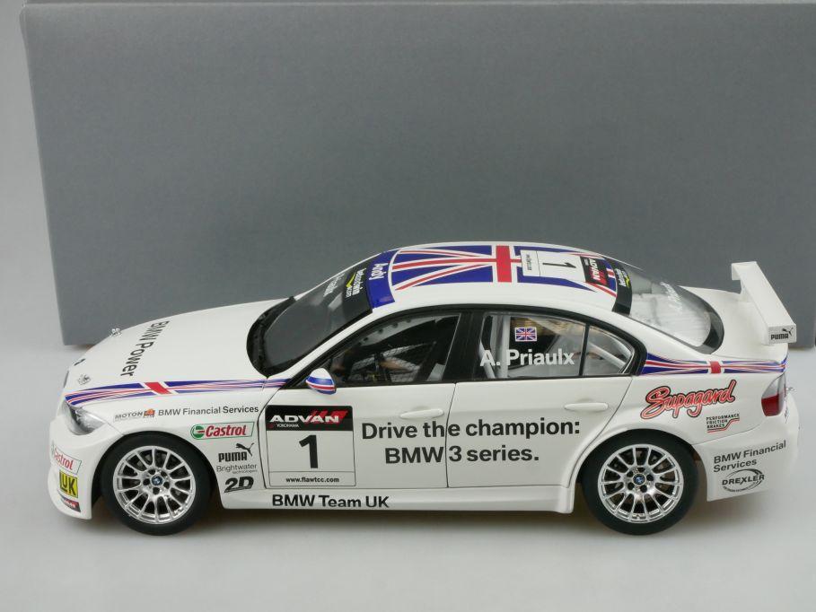Kyosho 1/18 BMW 320si WTCC 2006 Andy Priaulx dealer 80430429067 + Box 116574