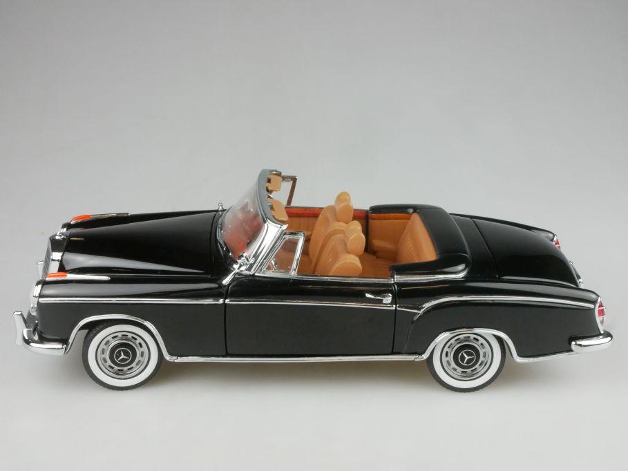 Sunstar 1/18 Mercedes Benz 220 SE Cabrio 1958 schwarz Modellauto 116908