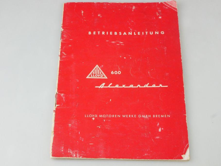 Lloyd 600 Alexander Betriebsanleitung Deutsch Heft 116918
