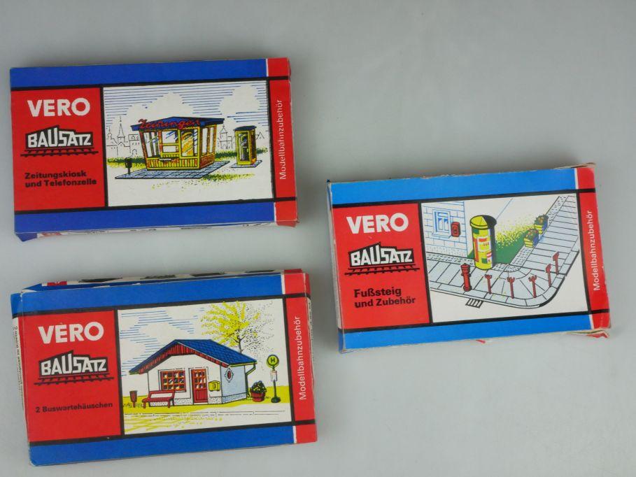 VERO MAMOS H0 / TT 2/54 3/40 2/62 Kiosk Telefonzelle Buswartehäuschen Box 117584