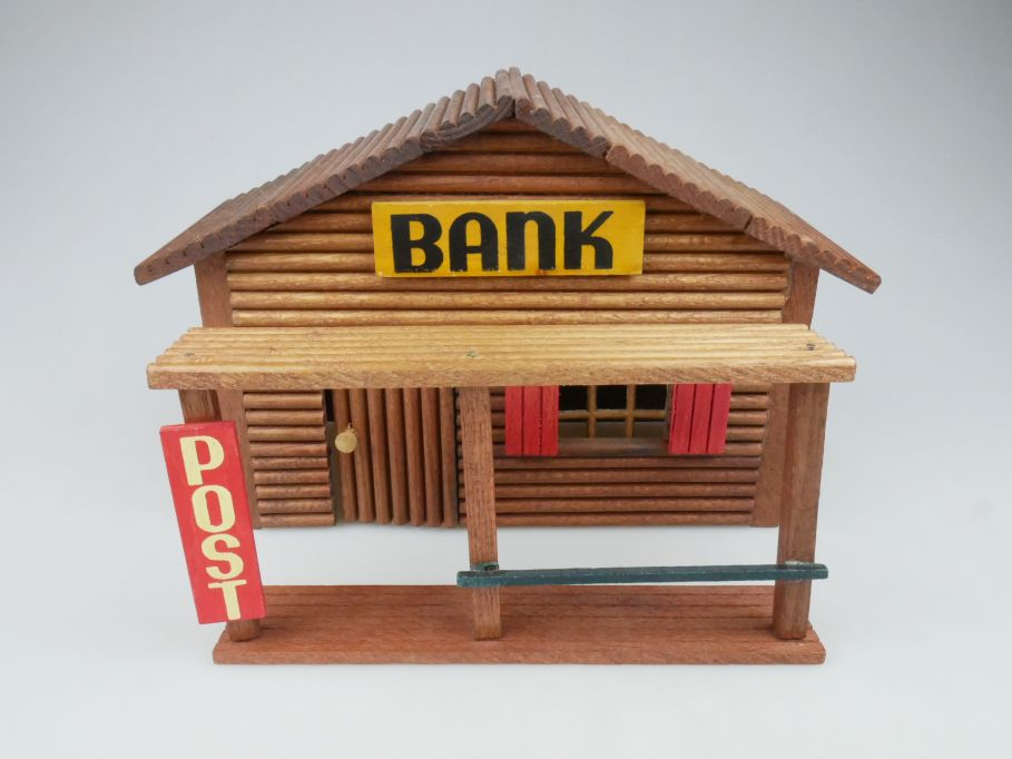 Wild West Western Holz Haus OEHME & Söhne Bank Post 117610