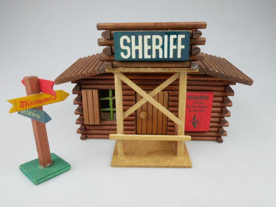 Wild West Western Holz Haus OEHME & Söhne SHERIFF + Wegweiser 117613