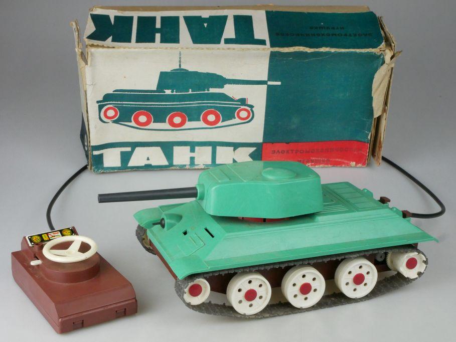 CCCP USSR Panzer 26cm tank Kabellenkung vintage toy DDR + Box 117961
