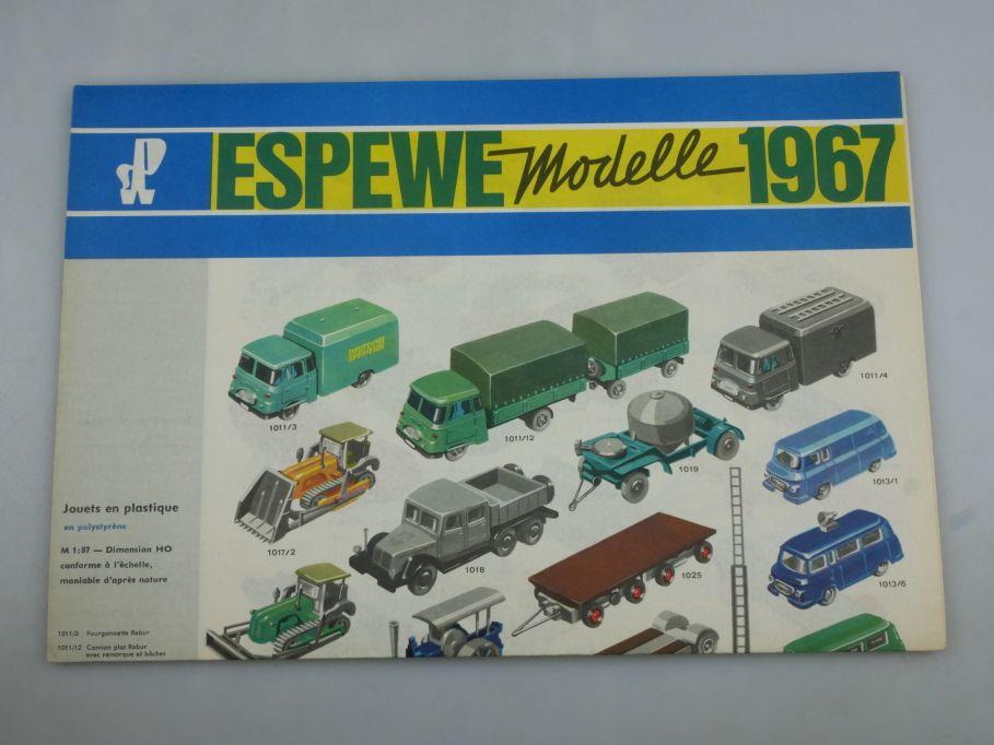 Selten Faltblatt ESPEWE 1967 french leaflet version SPW VEB DDR catalog 118059