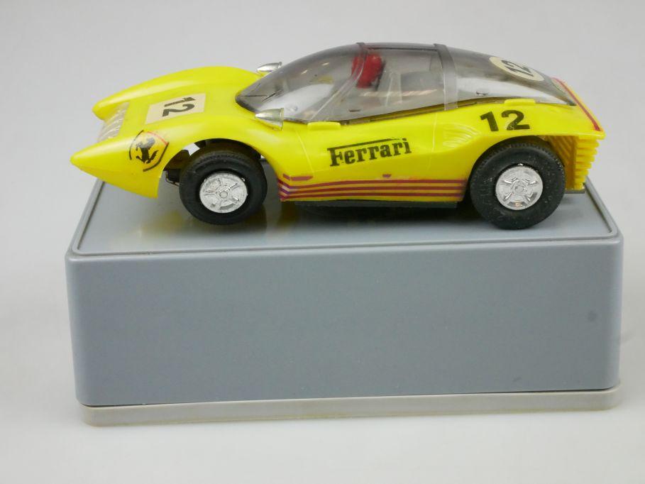 Prefo Autorennbahn 1/32 Ferrari P5 GT gelb DDR + Box 118090